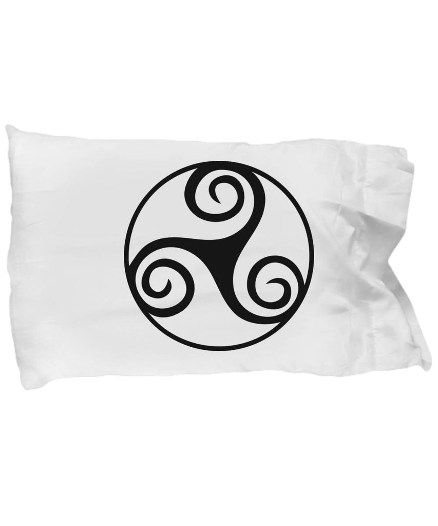 Celtic Gift, Triskele, Irish Design, Pillow Case pillowcase Moods of Ireland