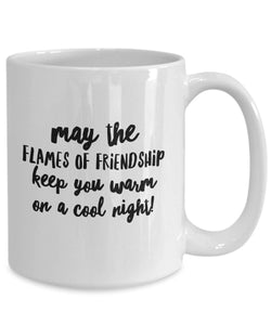 May the Flames of Friendship Irish Blessing Coffee Mug - James A. Truett - Moods of Ireland - Irish Art