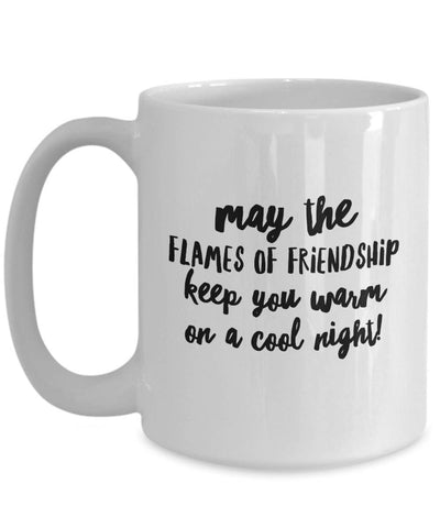 Image of May the Flames of Friendship Irish Blessing Coffee Mug