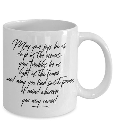 Image of Irish Blessing  Friendship  May Your Joys  Going Away Gift  Coffee Mug  Ceramic