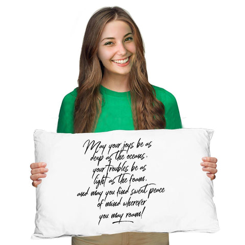 Image of Going Away Gift  May Your Joys Irish Blessing Pillow Case