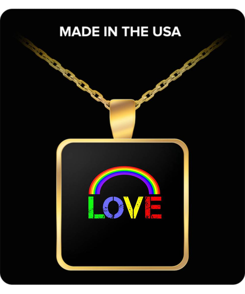 Love Jewellery Gold-Plated Pendant Necklace LGBT Gift Pendant Necklace Moods of Ireland