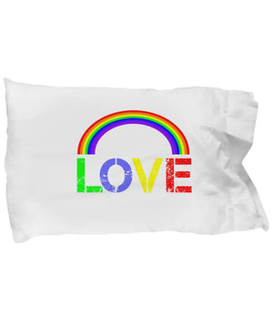 LGBT Love Rainbow Pillowcase Microfibre Pillowcase Moods of Ireland