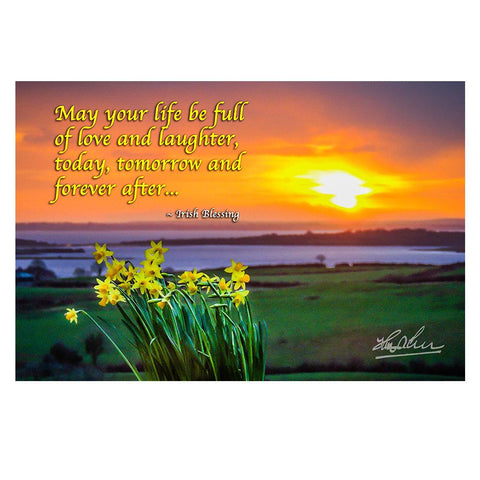 Image of May Your Life Be Full of Love and Laughter, Irish Blessing Poster Poster Moods of Ireland
