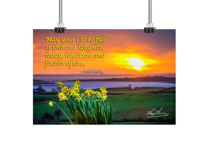 Irish Blessing Poster – May Your Life Be Full of Love and Laughter - James A. Truett - Moods of Ireland - Irish Art