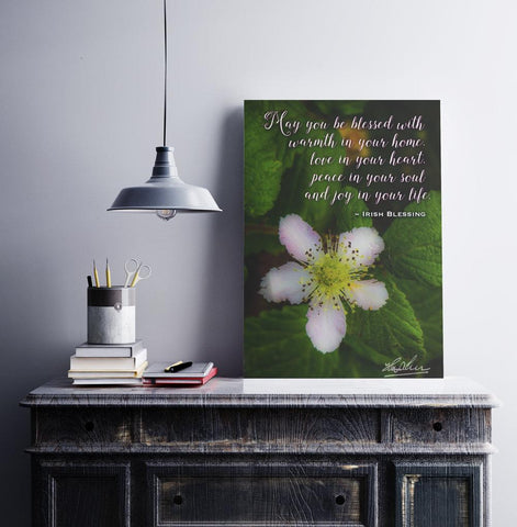 Image of Irish Blessing Poster – May You Be Blessed With Warmth in Your Home - James A. Truett - Moods of Ireland - Irish Art