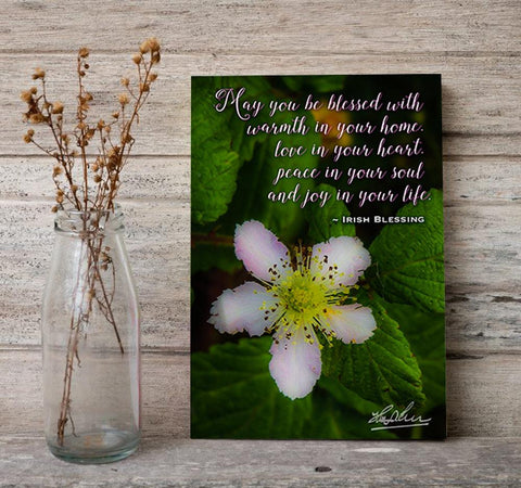 Image of May You Be Blessed With Warmth in Your Home, Irish Blessing Poster Poster Moods of Ireland