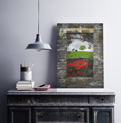 Image of Blooming County Clare Countryside, Irish Landscape Poster Print