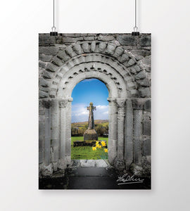 Print - Medieval Arch and High Cross, County Clare, Ireland - James A. Truett - Moods of Ireland - Irish Art