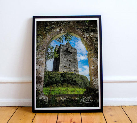Irish Castle in County Clare, Ireland, Poster Print