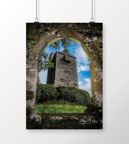 Irish Castle in County Clare, Ireland, Poster Print Poster Moods of Ireland