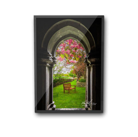 Image of Medieval Abbey in Irish Spring, Irish Poster Poster Moods of Ireland