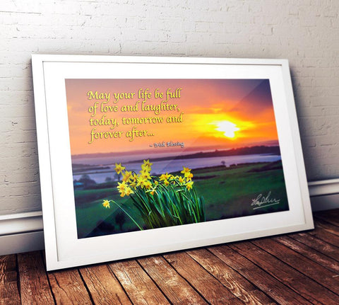 May Your Life Be Full of Love and Laughter, Irish Blessing Poster Poster Moods of Ireland
