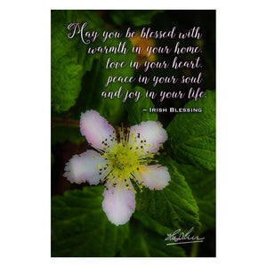 May You Be Blessed With Warmth in Your Home, Irish Blessing Poster