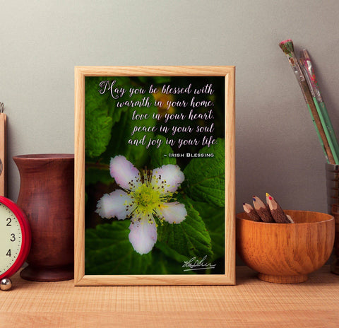 May You Be Blessed With Warmth in Your Home, Irish Blessing Poster Poster Moods of Ireland