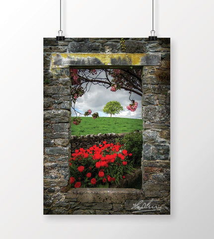 Image of Blooming County Clare Countryside, Irish Landscape Poster Print Poster Moods of Ireland