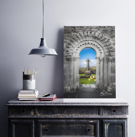 Image of Print - Medieval Arch and High Cross, County Clare, Ireland - James A. Truett - Moods of Ireland - Irish Art