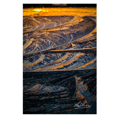 Image of Sunrise in Ice Crystals, Abstract Wall Art Poster
