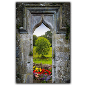 Irish Summer through Kildysart Church Ruins, Irish Poster Poster Moods of Ireland