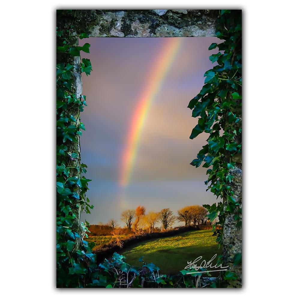 Irish Rainbow over County Clare, Ireland, Home Decor