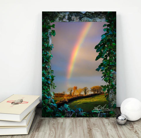 Image of Irish Rainbow over County Clare, Ireland, Home Decor Poster Moods of Ireland