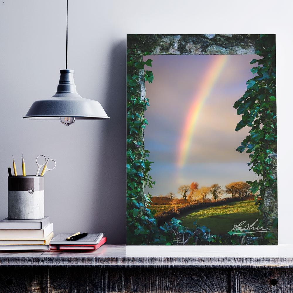 Irish Rainbow over County Clare, Ireland, Home Decor Poster Moods of Ireland