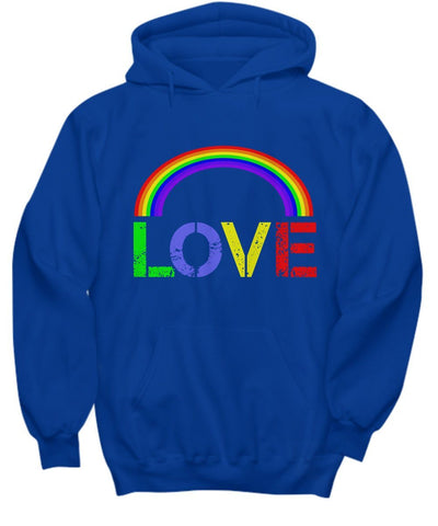 Image of LOVE Hoodie LGBT Rainbow Pride Love Means Love BFF Hoodie Moods of Ireland