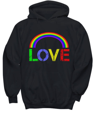 Image of LOVE  Hoodie  LGBT  Rainbow  Pride  Love Means Love  BFF