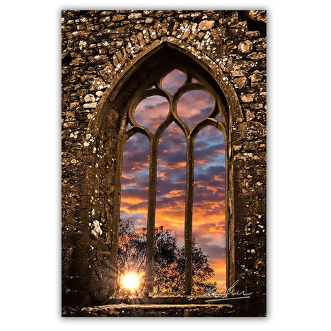 Summer Sunrise at Clare Abbey, Ireland, Irish Inspirational Art