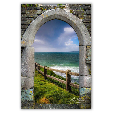 Image of County Clare Atlantic Storm, Irish Art Poster Poster Moods of Ireland