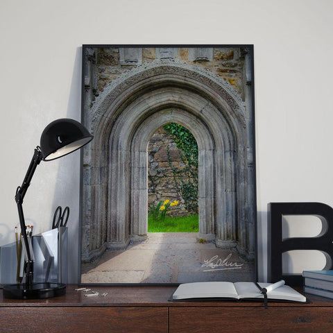Sculpted Portal to Irish Spring Garden, Ireland Poster