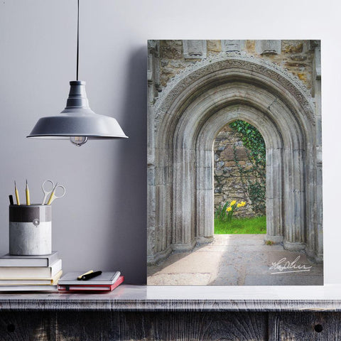 Image of Sculpted Portal to Irish Spring Garden, Ireland Poster Poster Moods of Ireland