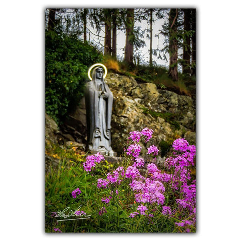 Image of Virgin Mary in Kildysart Grotto, Catholic Art, Ireland Poster Poster Moods of Ireland