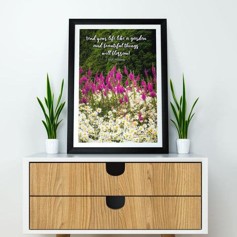 Image of Irish Proverb Poster Tend Your Life Like a Garden - James A. Truett - Moods of Ireland - Irish Art
