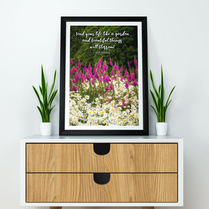 Irish Proverb Poster Tend Your Life Like a Garden - James A. Truett - Moods of Ireland - Irish Art