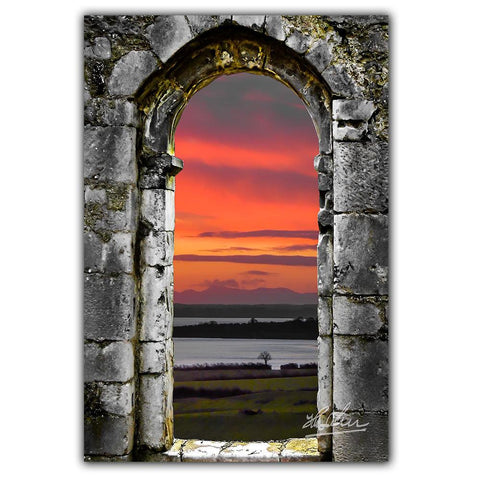 Image of Enchanted Medieval Portal, Ireland Poster Poster Moods of Ireland