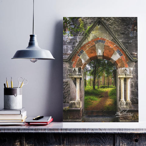 Portal to Portumna Forest, County Galway, Ireland, Irish Wall Art Poster Moods of Ireland