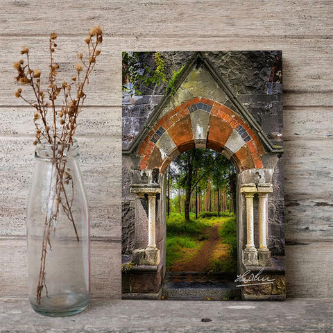 Image of Portal to Portumna Forest, County Galway, Ireland, Irish Wall Art Poster Moods of Ireland