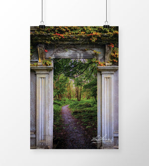 Into the County Galway Countryside, Poster, Irish Home Decor