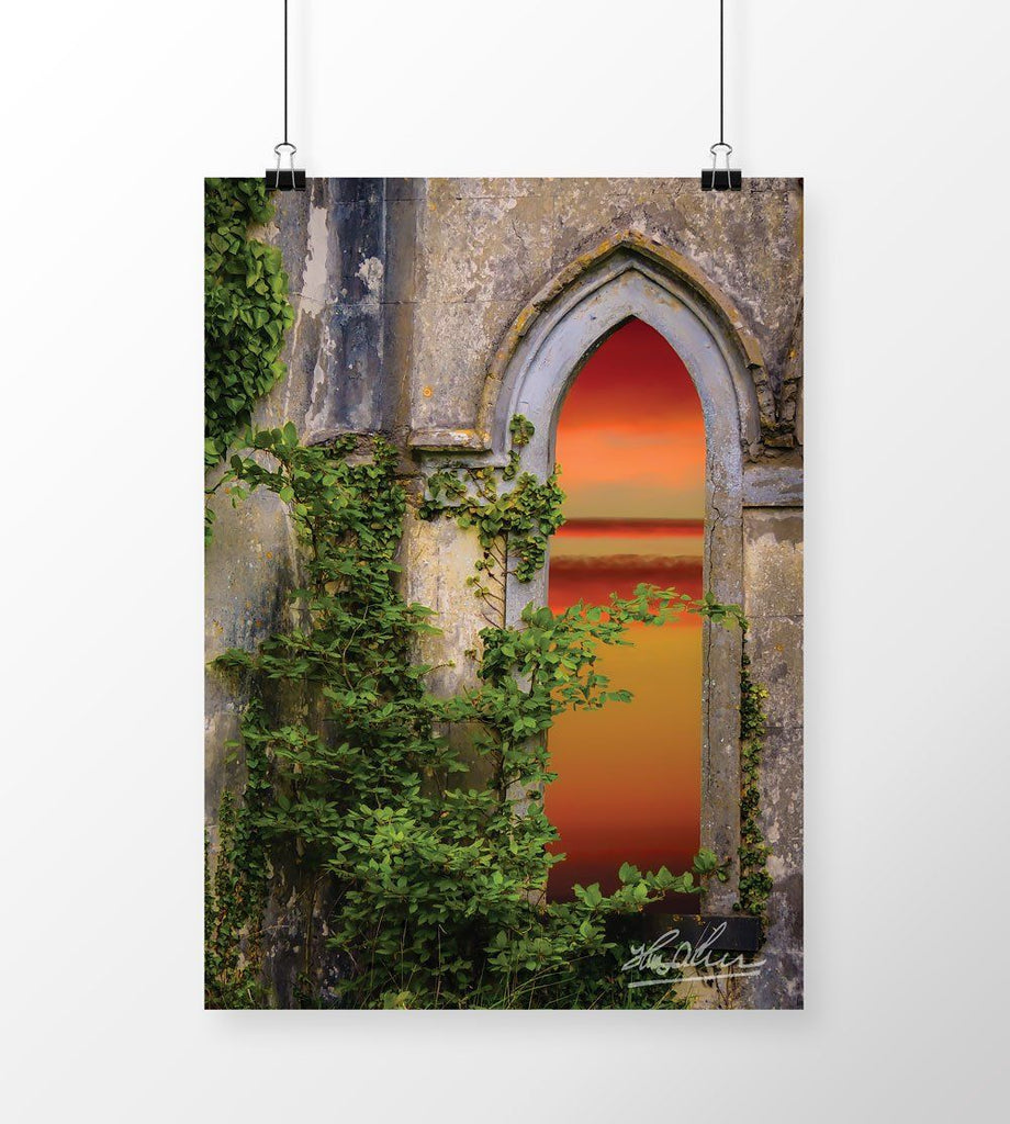 Sunrise at Paradise House, Irish Art Poster Poster Moods of Ireland