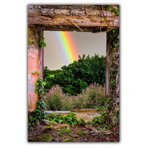 Rainbow in Paradise, Irish Art Poster Poster Moods of Ireland