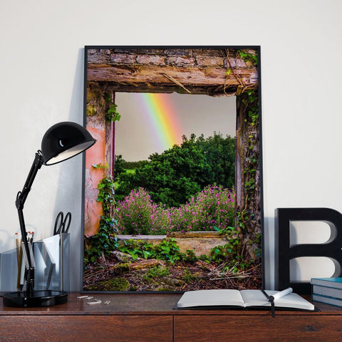 Rainbow in Paradise, Irish Art Poster
