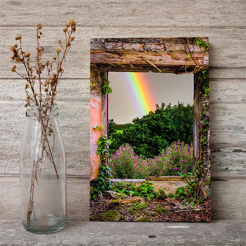 Image of Rainbow in Paradise, Irish Art Poster Poster Moods of Ireland
