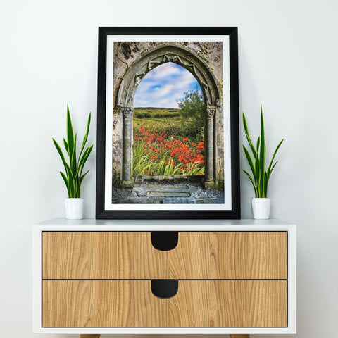 Image of Print - Medieval Portal to Irish Summer in County Clare - James A. Truett - Moods of Ireland - Irish Art