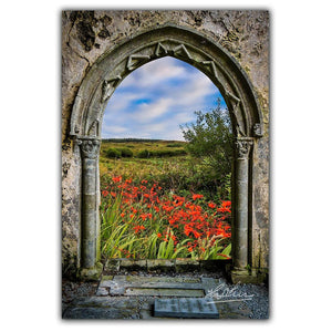 Poster Print - Medieval Portal to Irish Summer in County Clare