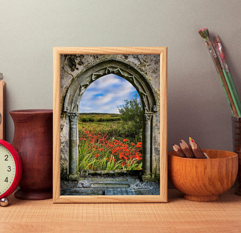 Image of Medieval Portal to Irish Summer, Ireland Poster Poster Moods of Ireland