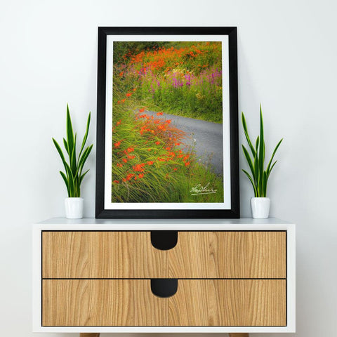 Image of Magical Wildflower Garden, Ireland Poster, Nature Art Poster Moods of Ireland