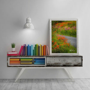 Magical Wildflower Garden, Ireland Poster, Nature Art Poster Moods of Ireland