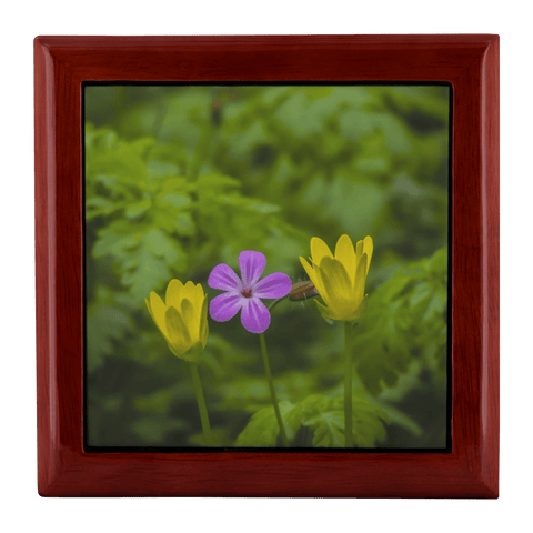 Jewelry Box - Irish Spring Wildflowers Jewelry Box teelaunch Red Mahogany