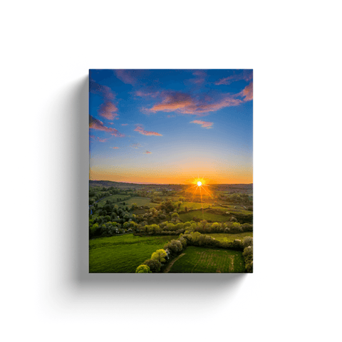 Canvas Wraps - May Irish Sunset over County Clare Countryside Canvas Wrap Moods of Ireland